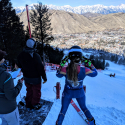 Resi Stiegler Fore-Running the WR FIS Open